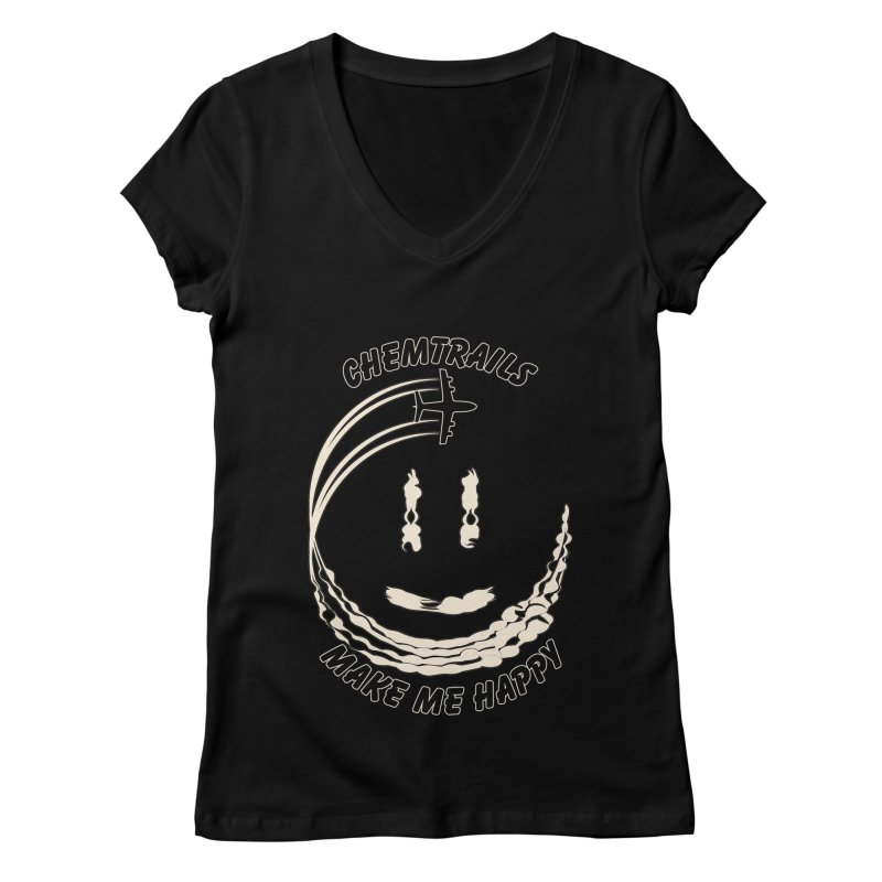 Happy Chemtrails Women's V-Neck by The Agora