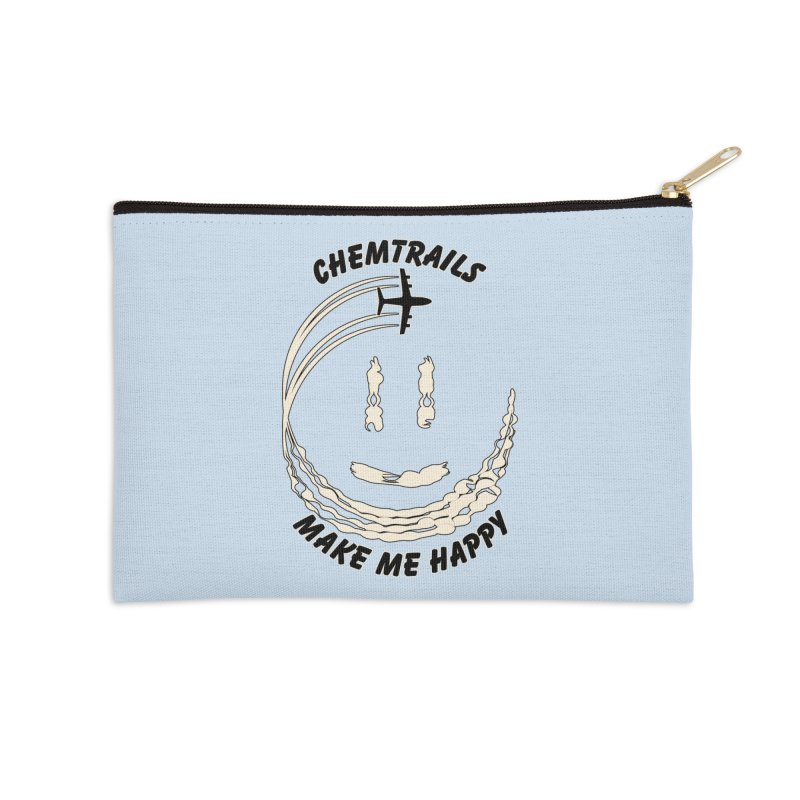 Happy Chemtrails Accessories Zip Pouch by The Agora
