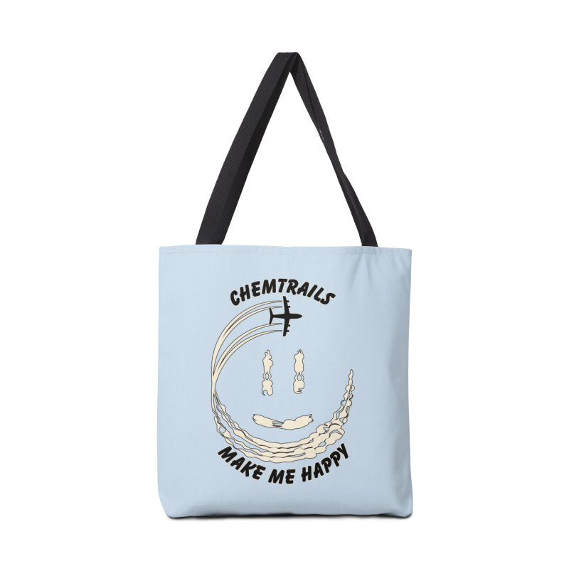 Happy Chemtrails Accessories Bag by The Agora