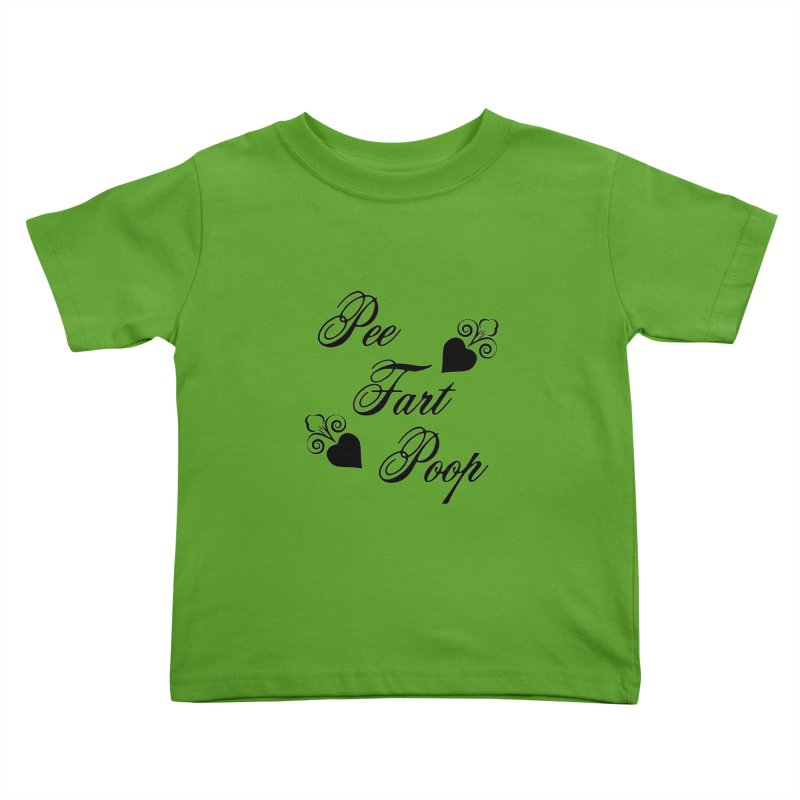 Pee Fart Poop Kids Toddler T-Shirt by The Agora