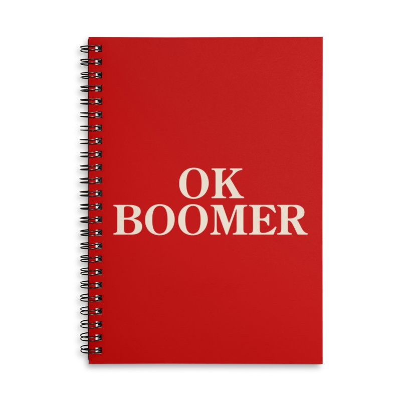 OK Boomer Accessories Notebook by The Agora