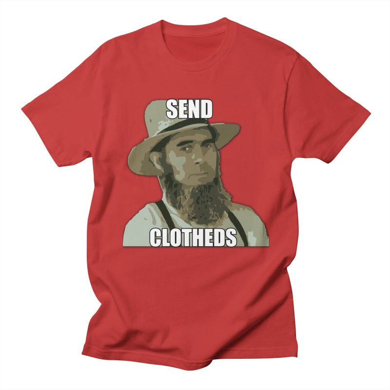 Send Clotheds in Men's Regular T-Shirt Red by The Agora
