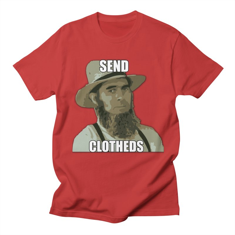 Send Clotheds in Men's T-Shirt Red by The Agora