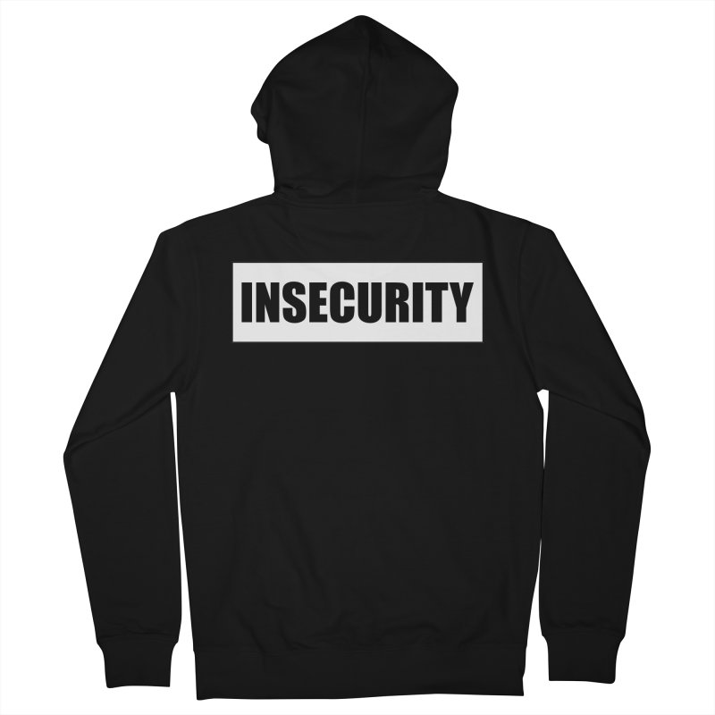Insecurity in Men's French Terry Zip-Up Hoody Black by The Agora