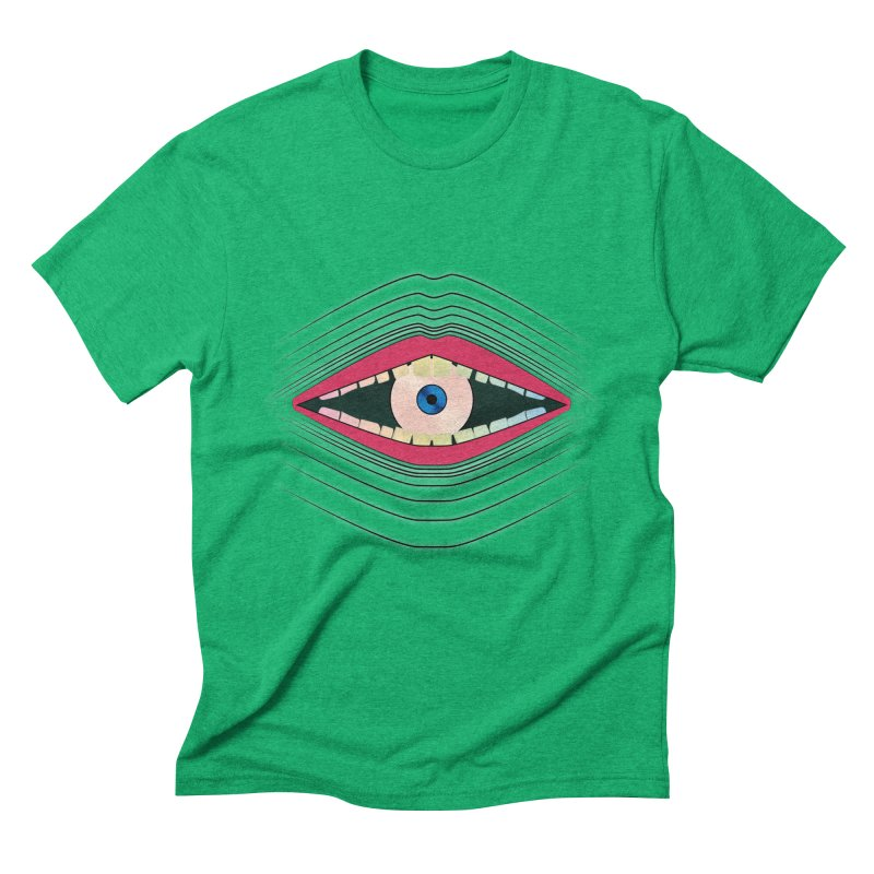 Let There Be in Men's Triblend T-Shirt Tri-Kelly by The Agora