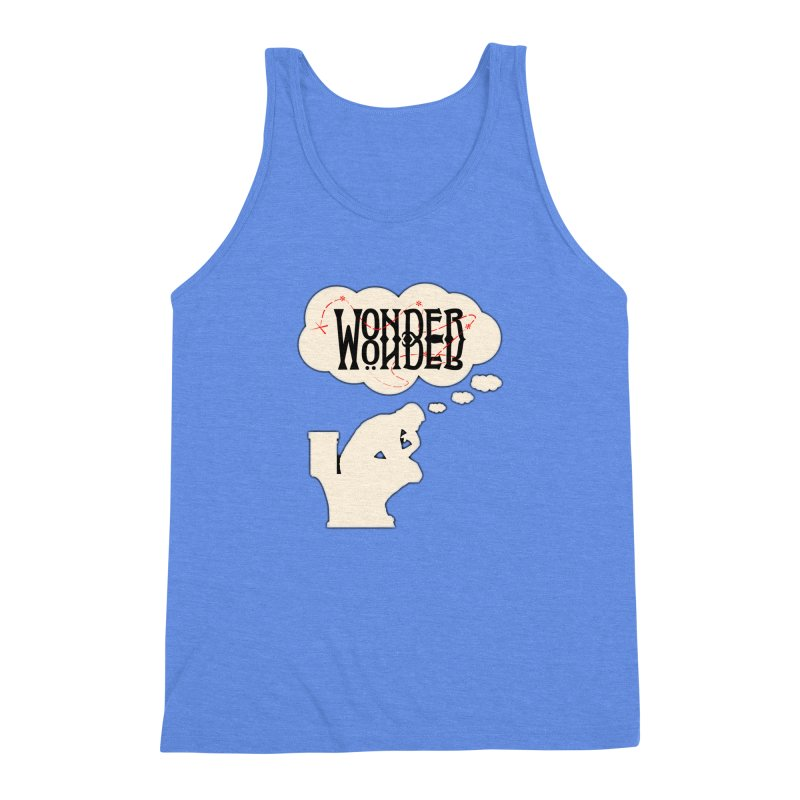 Wonder in Men's Triblend Tank Heather Sky Blue by The Agora
