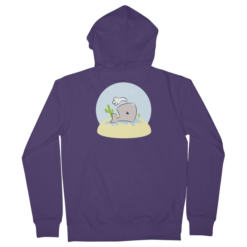 Deserted Whale Women's Zip-Up Hoody by Alaabahattab's Artist Shop