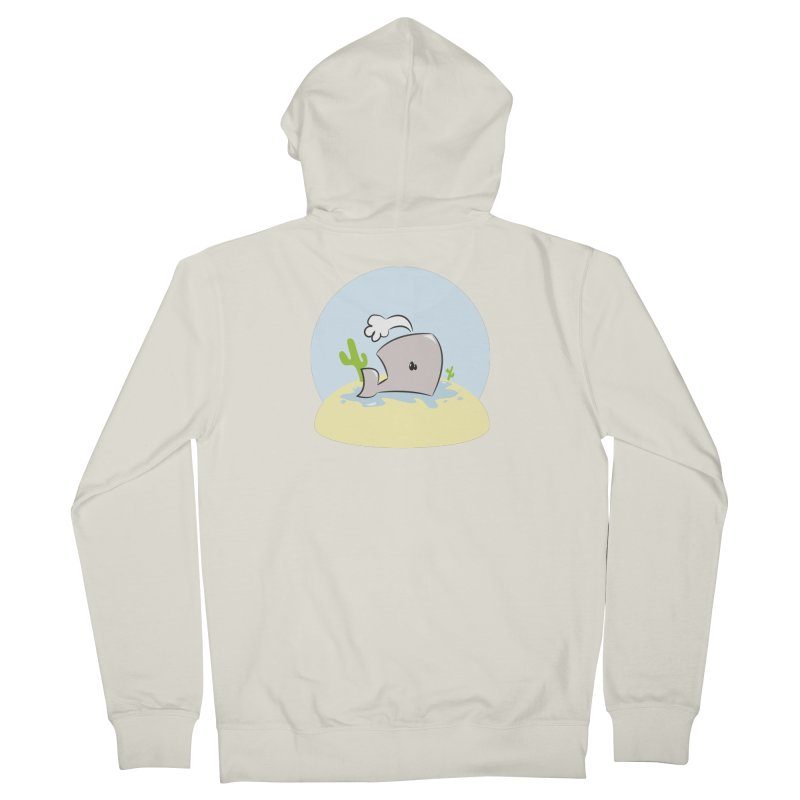 Deserted Whale Men's Zip-Up Hoody by Alaabahattab's Artist Shop