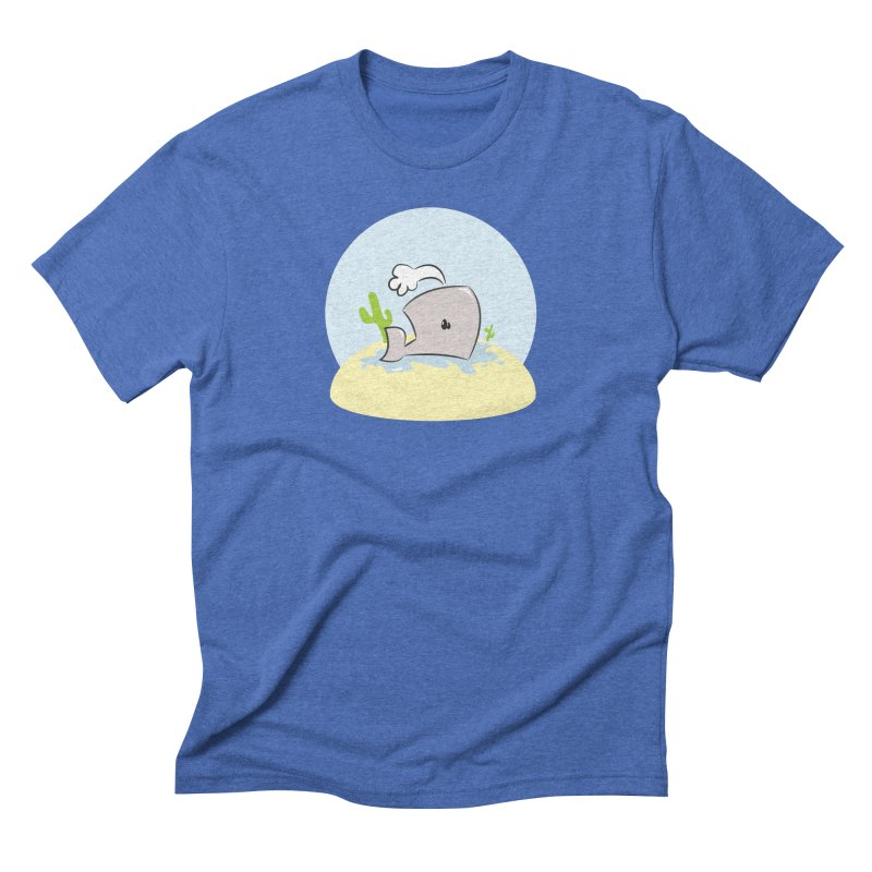 Deserted Whale Men's Triblend T-Shirt by Alaabahattab's Artist Shop