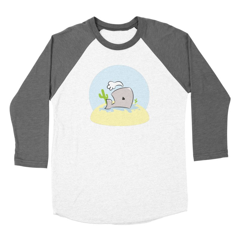 Deserted Whale Women's Baseball Triblend T-Shirt by Alaabahattab's Artist Shop