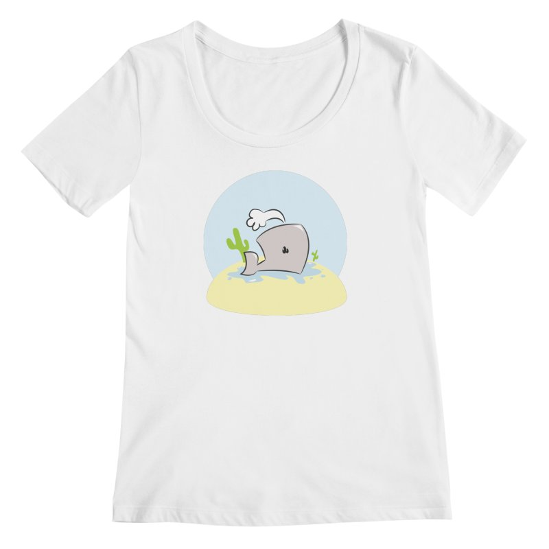 Deserted Whale Women's Scoopneck by Alaabahattab's Artist Shop