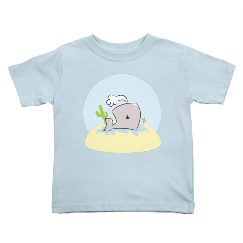 Deserted Whale Kids Toddler T-Shirt by Alaabahattab's Artist Shop