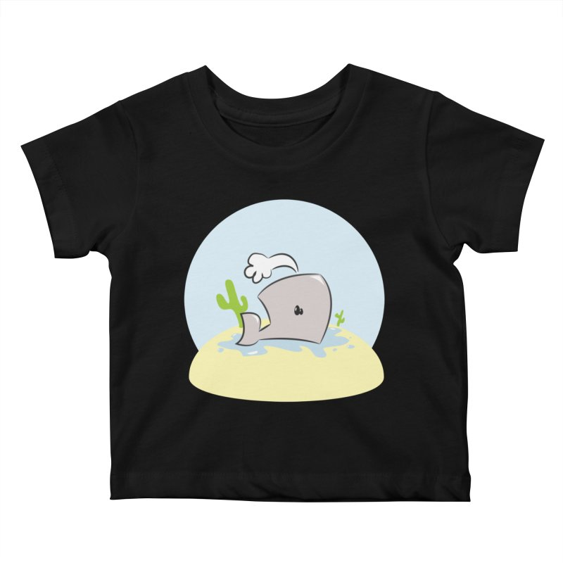 Deserted Whale Kids Baby T-Shirt by Alaabahattab's Artist Shop