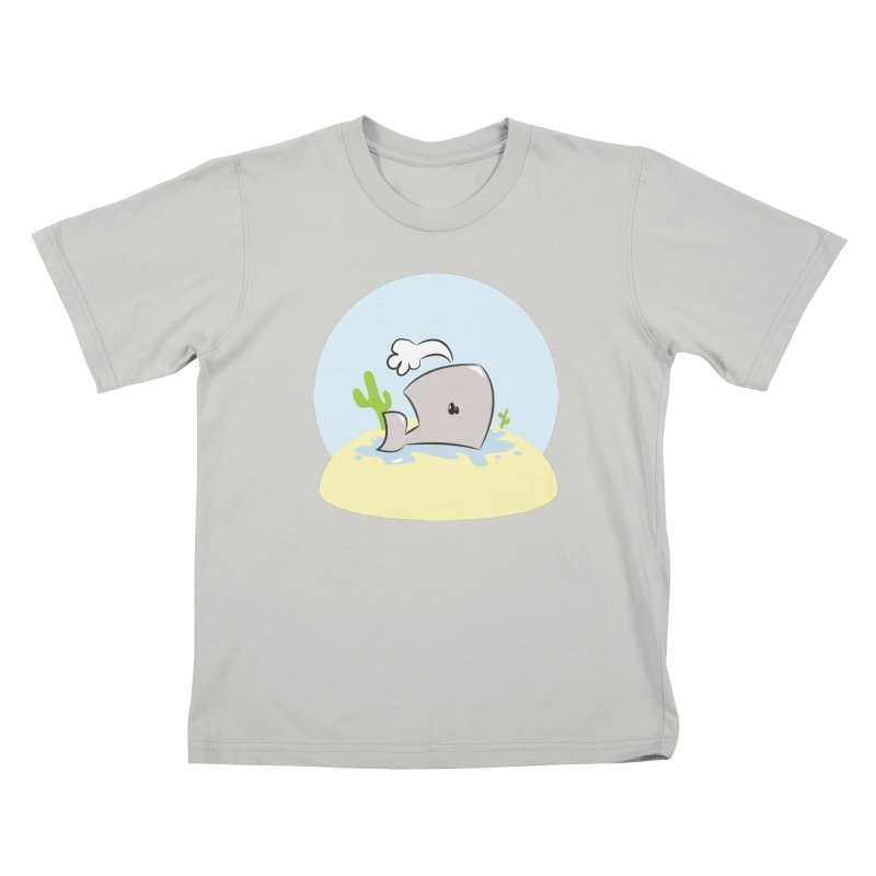 Deserted Whale Kids T-Shirt by Alaabahattab's Artist Shop