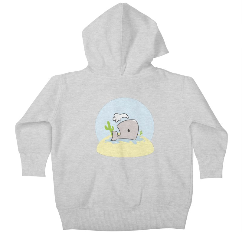 Deserted Whale Kids Baby Zip-Up Hoody by Alaabahattab's Artist Shop