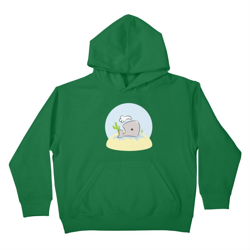 Deserted Whale Kids Pullover Hoody by Alaabahattab's Artist Shop