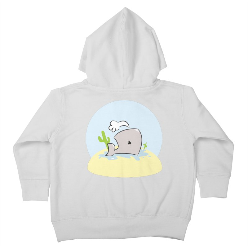 Deserted Whale Kids Toddler Zip-Up Hoody by Alaabahattab's Artist Shop