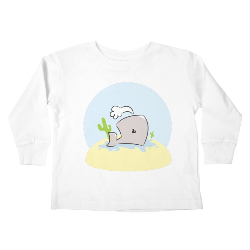 Deserted Whale Kids Toddler Longsleeve T-Shirt by Alaabahattab's Artist Shop