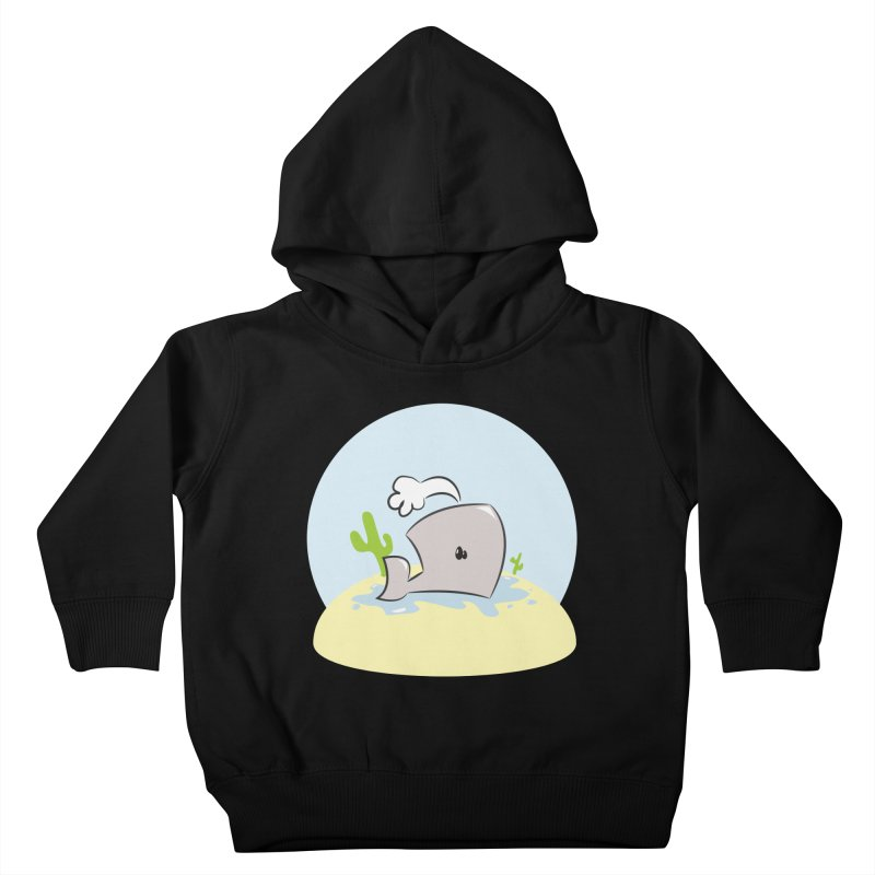 Deserted Whale Kids Toddler Pullover Hoody by Alaabahattab's Artist Shop