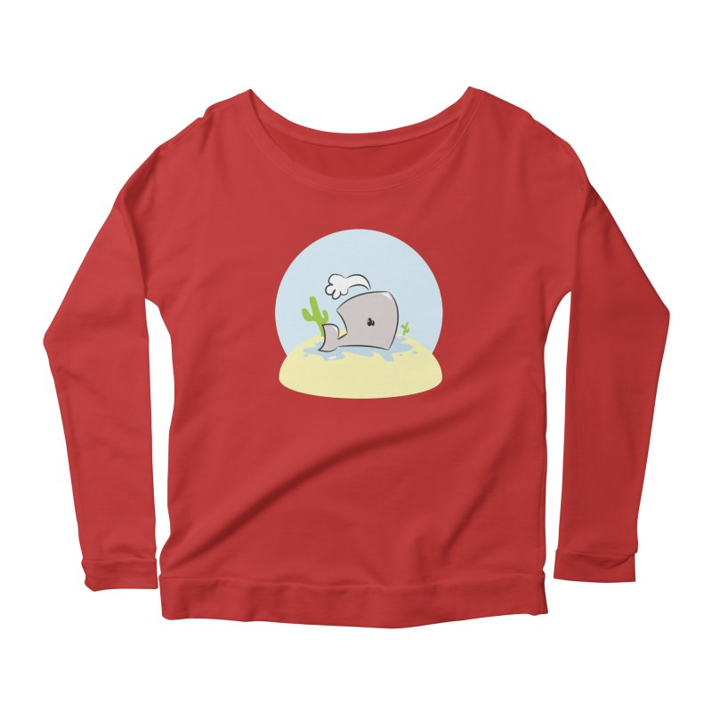 Deserted Whale Women's Longsleeve T-Shirt by Alaabahattab's Artist Shop