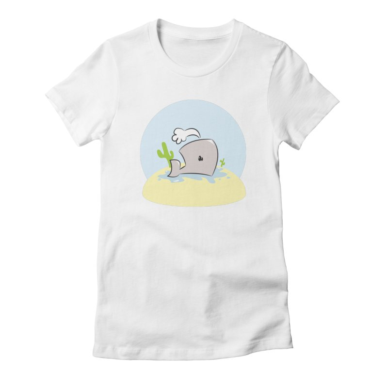 Deserted Whale Women's Fitted T-Shirt by Alaabahattab's Artist Shop