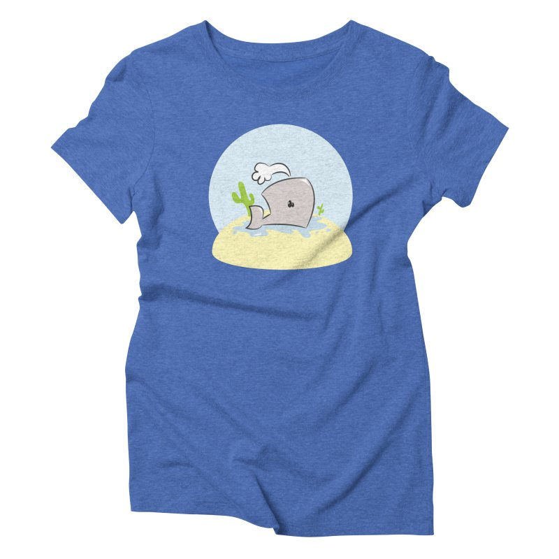 Deserted Whale Women's Triblend T-shirt by Alaabahattab's Artist Shop