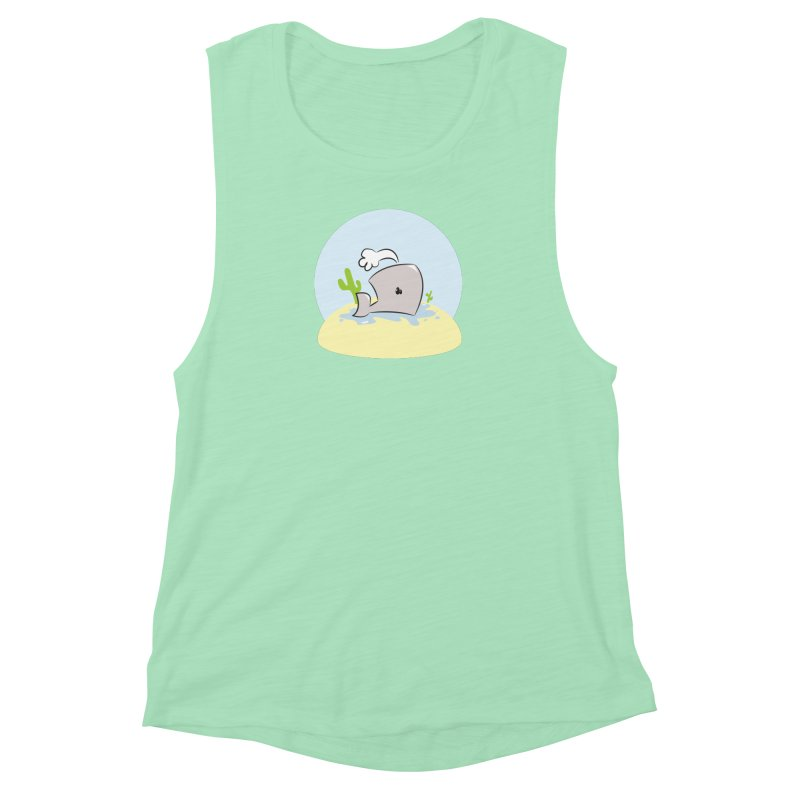 Deserted Whale Women's Muscle Tank by Alaabahattab's Artist Shop