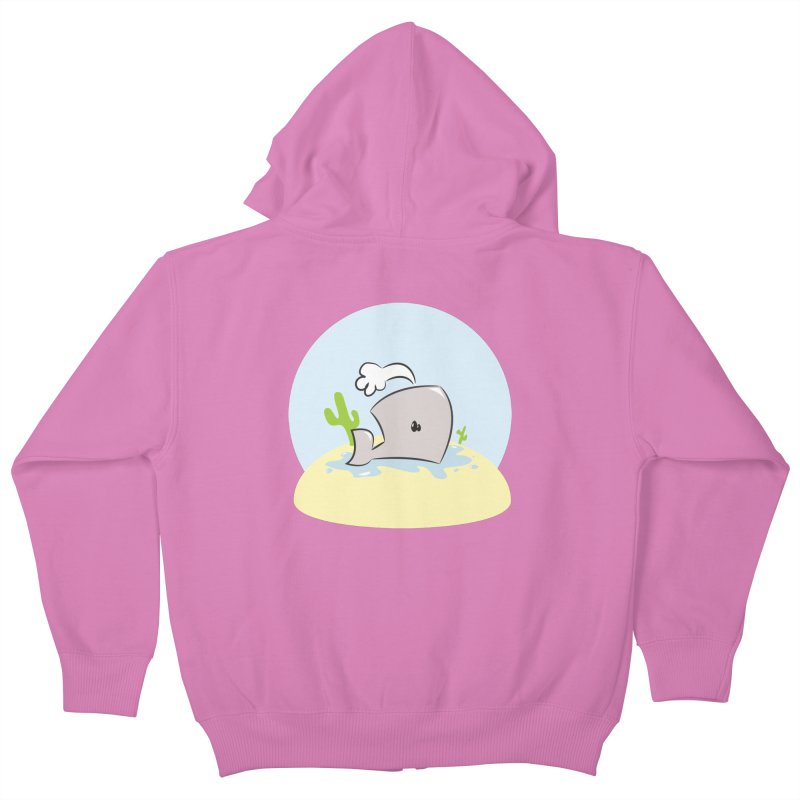 Deserted Whale Kids Zip-Up Hoody by Alaabahattab's Artist Shop