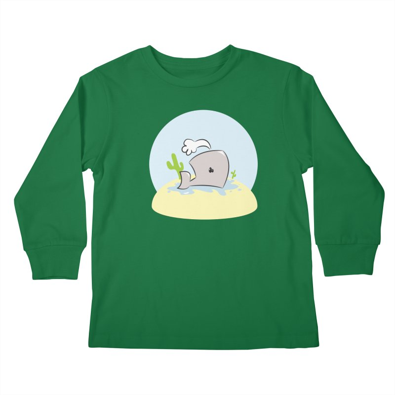 Deserted Whale Kids Longsleeve T-Shirt by Alaabahattab's Artist Shop