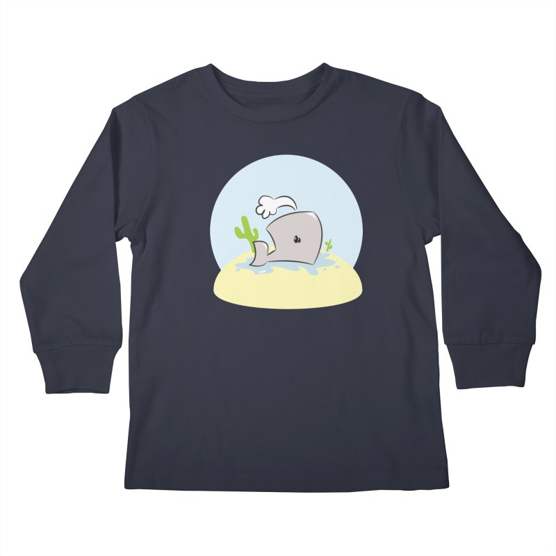 Deserted Whale Kids Longsleeve T-Shirt by Alaabahattab's Artist Shop