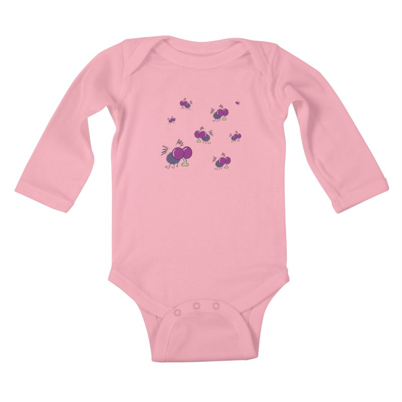 Flies Kids Baby Longsleeve Bodysuit by Alaabahattab's Artist Shop