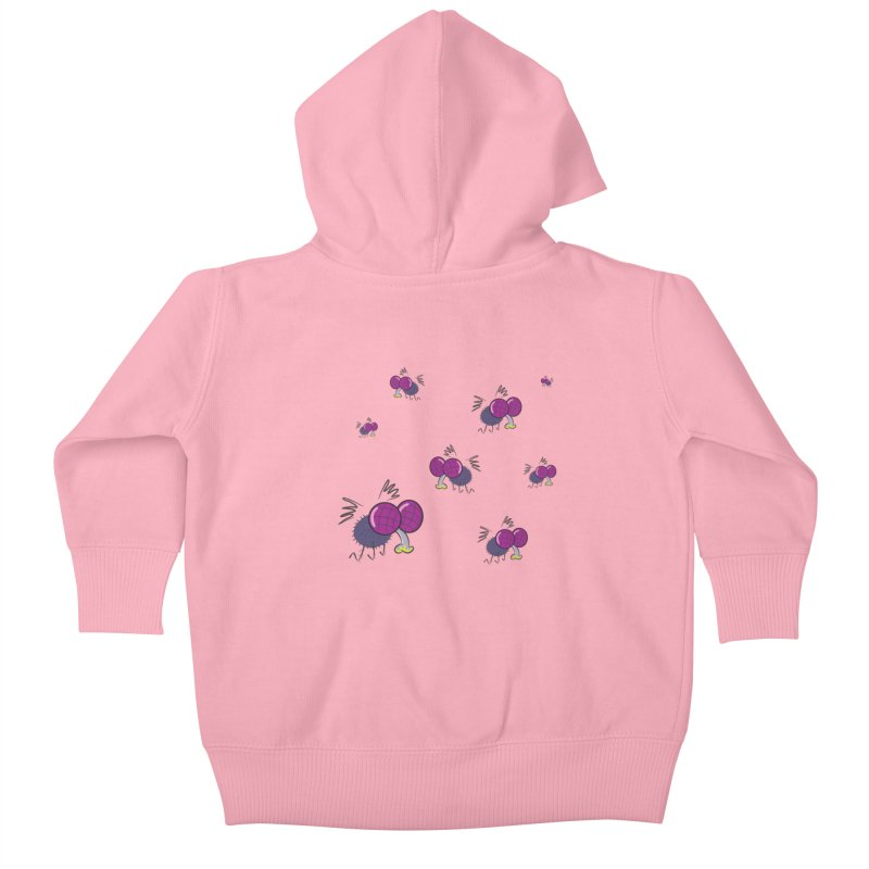 Flies Kids Baby Zip-Up Hoody by Alaabahattab's Artist Shop