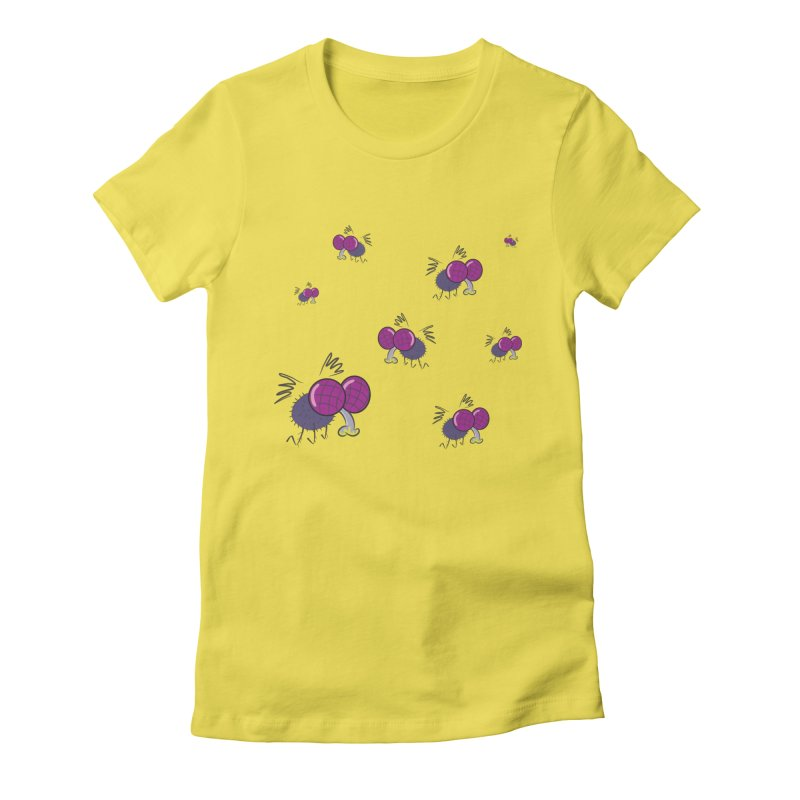 Flies Women's Fitted T-Shirt by Alaabahattab's Artist Shop