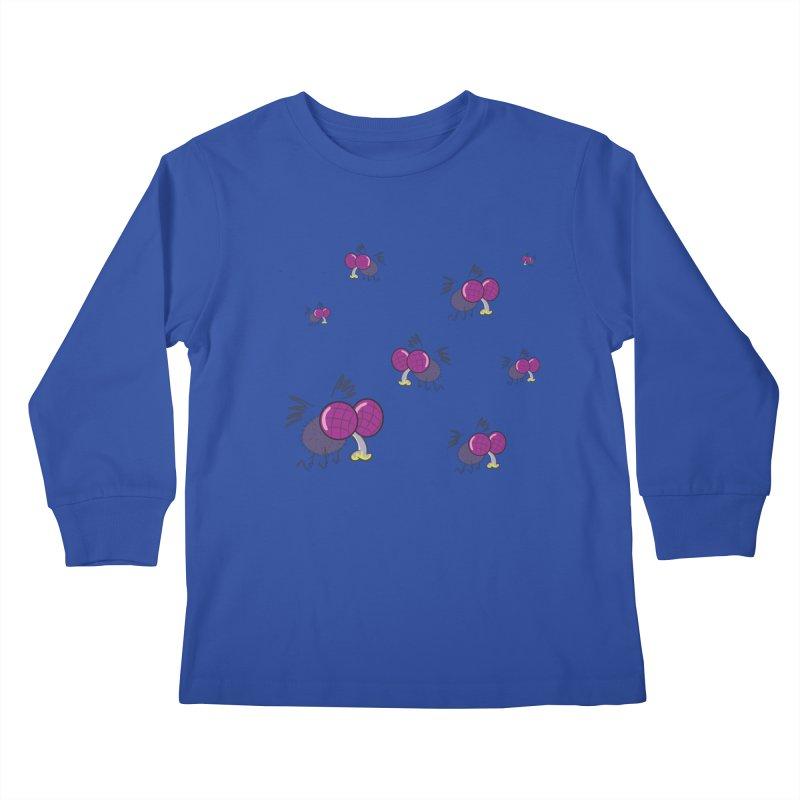Flies Kids Longsleeve T-Shirt by Alaabahattab's Artist Shop