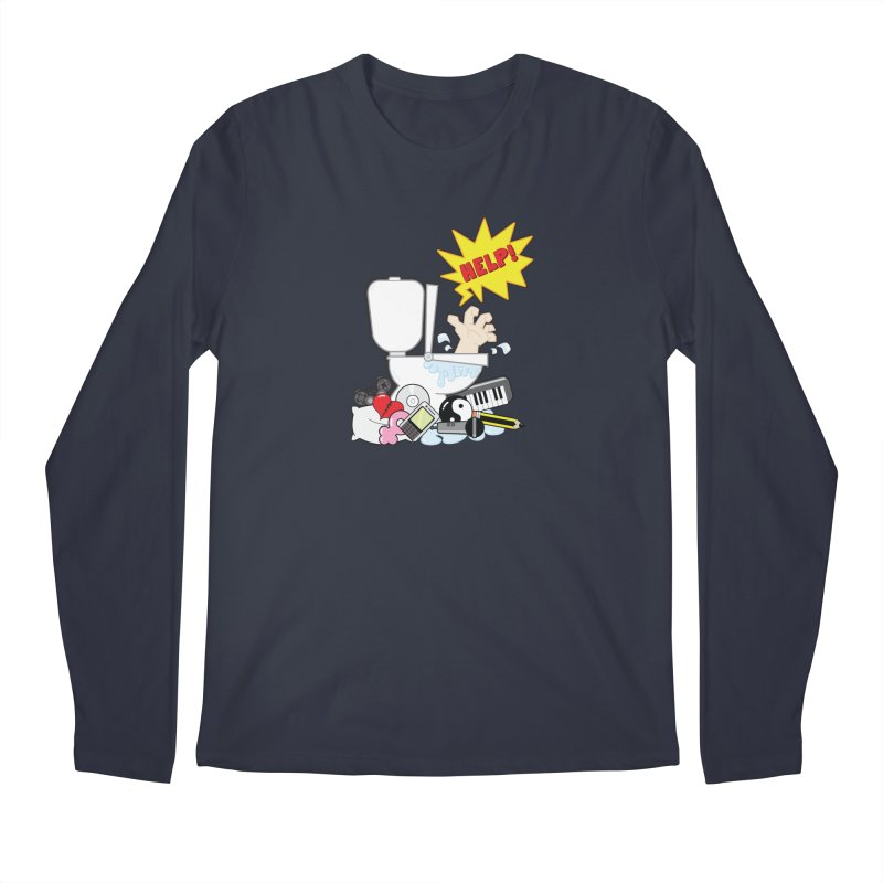 Brain Clog Men's Longsleeve T-Shirt by Alaabahattab's Artist Shop