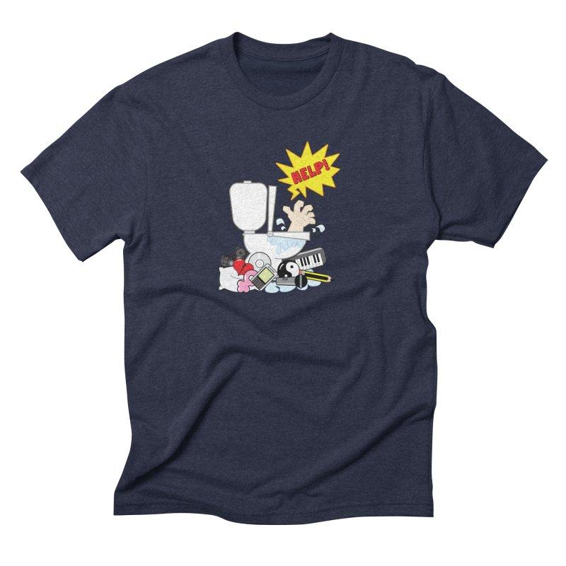 Brain Clog Men's Triblend T-Shirt by Alaabahattab's Artist Shop