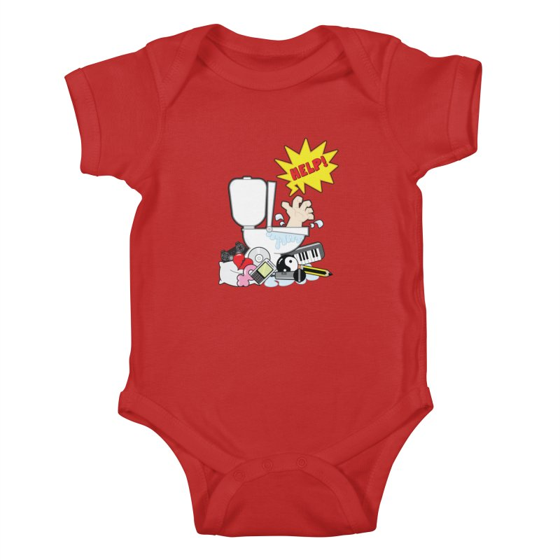 Brain Clog Kids Baby Bodysuit by Alaabahattab's Artist Shop