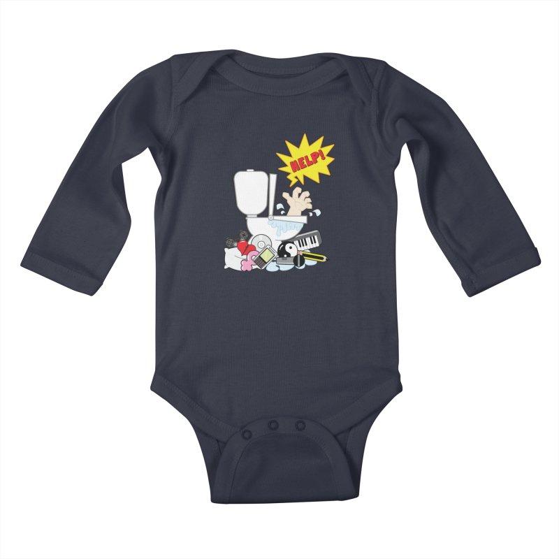Brain Clog Kids Baby Longsleeve Bodysuit by Alaabahattab's Artist Shop