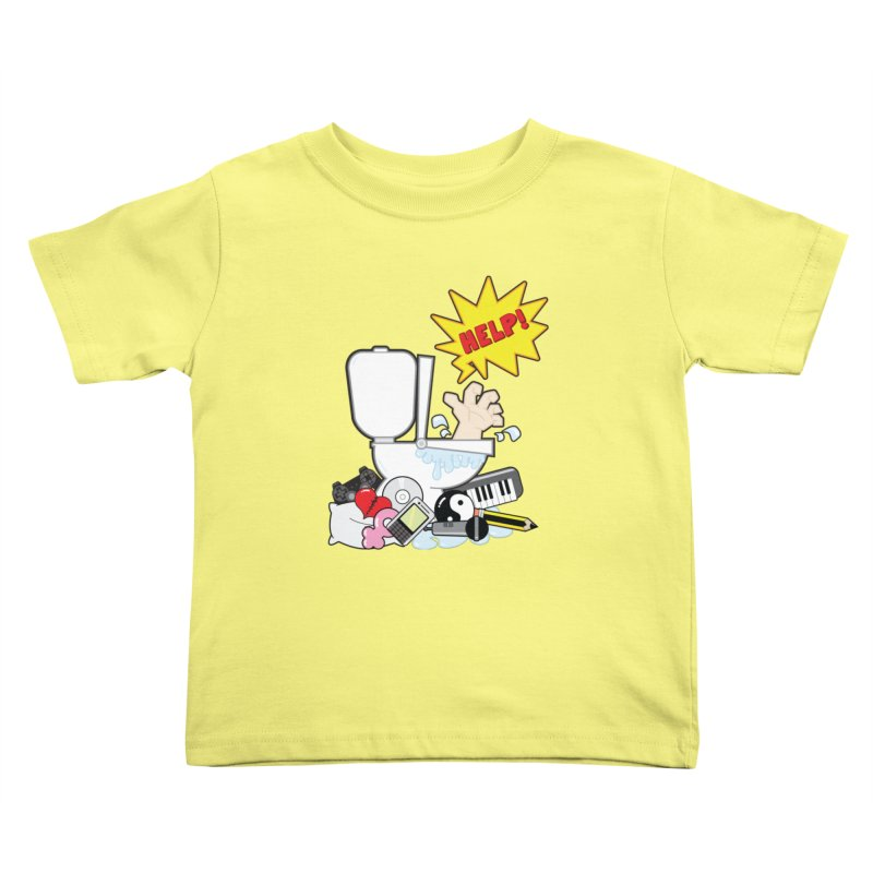 Brain Clog Kids Toddler T-Shirt by Alaabahattab's Artist Shop