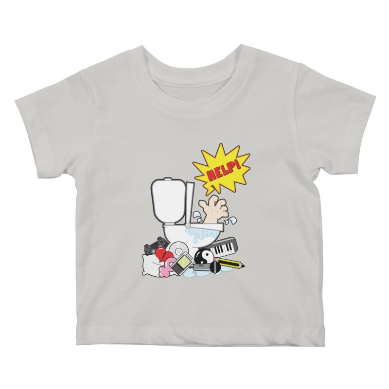 Brain Clog Kids Baby T-Shirt by Alaabahattab's Artist Shop
