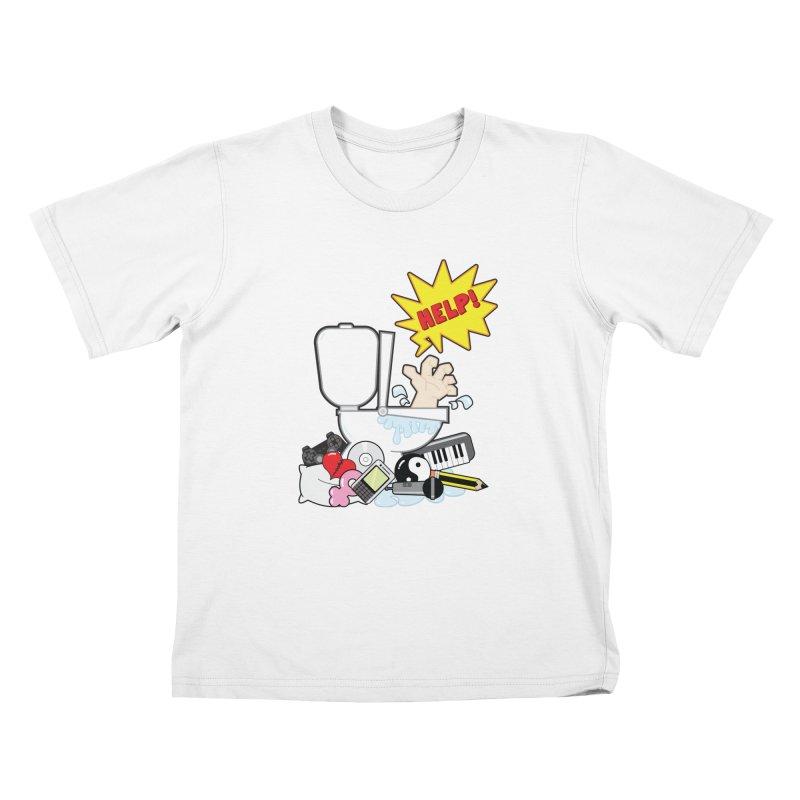 Brain Clog Kids T-shirt by Alaabahattab's Artist Shop