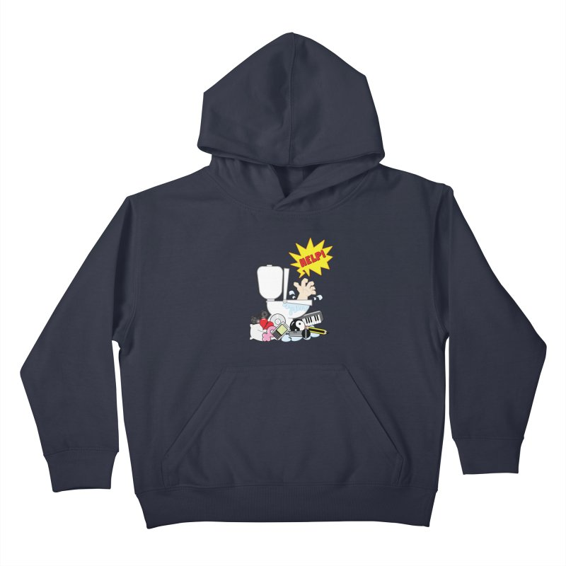 Brain Clog Kids Pullover Hoody by Alaabahattab's Artist Shop