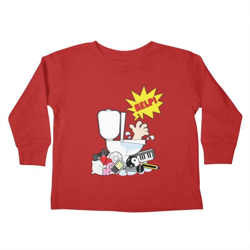 Brain Clog Kids Toddler Longsleeve T-Shirt by Alaabahattab's Artist Shop