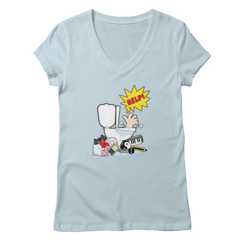 Brain Clog Women's V-Neck by Alaabahattab's Artist Shop