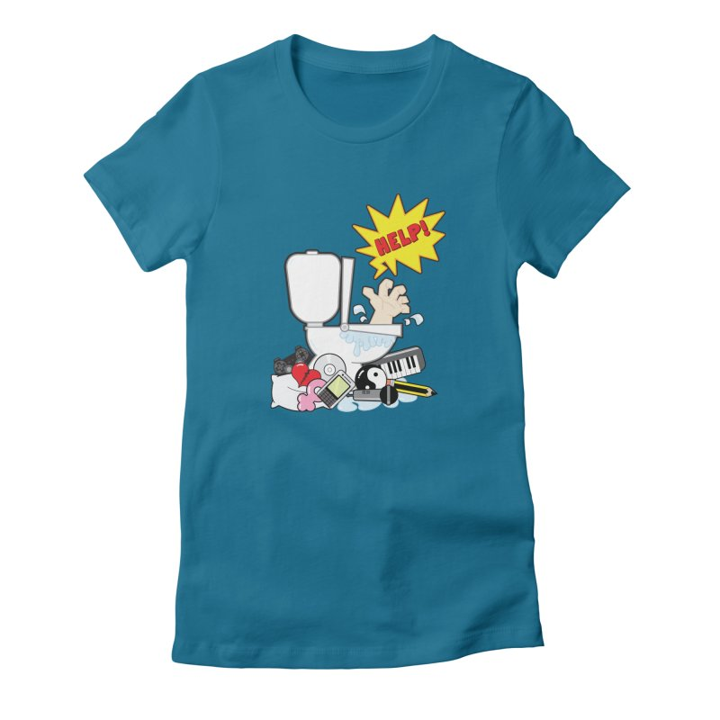 Brain Clog Women's Fitted T-Shirt by Alaabahattab's Artist Shop