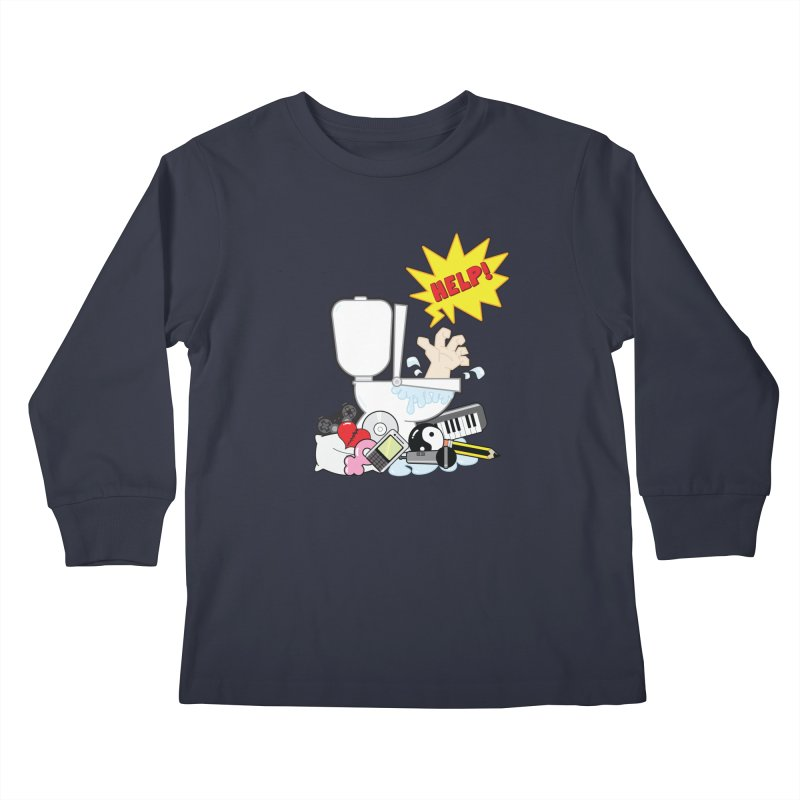 Brain Clog Kids Longsleeve T-Shirt by Alaabahattab's Artist Shop