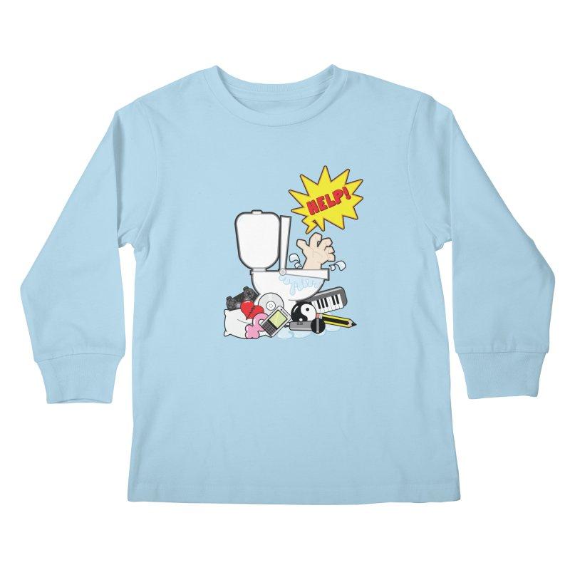 Brain Clog Kids Longsleeve T-Shirt by Alaabahattab's Artist Shop