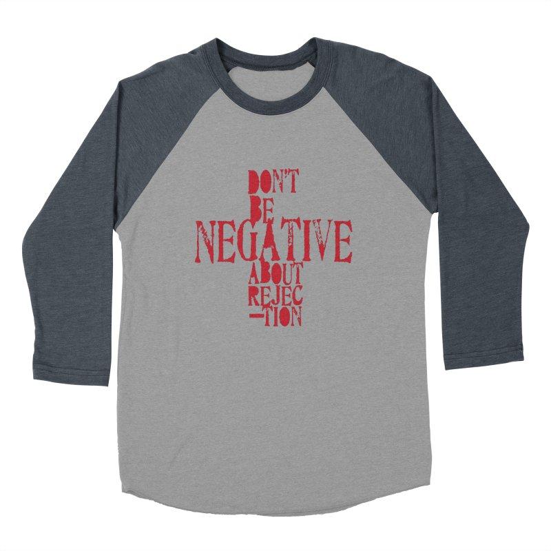 Don't Be Negative Men's Baseball Triblend T-Shirt by Alaabahattab's Artist Shop