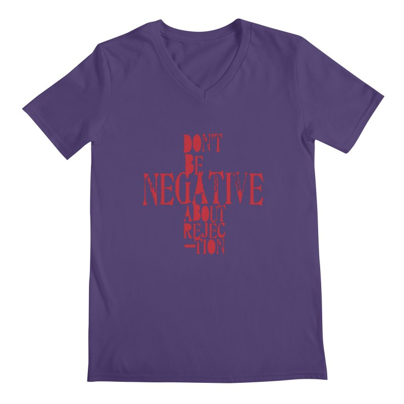 Don't Be Negative Men's V-Neck by Alaabahattab's Artist Shop