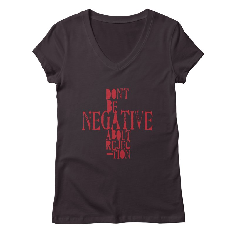 Don't Be Negative Women's V-Neck by Alaabahattab's Artist Shop